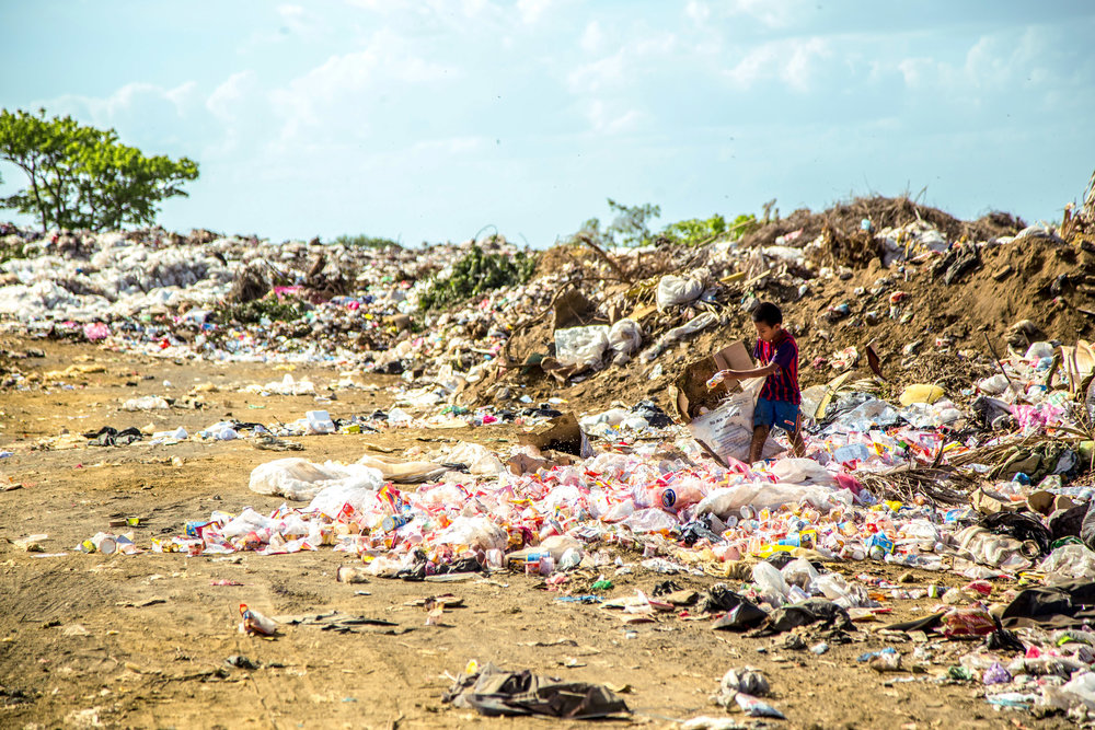Plastics emit toxic chemicals such as BPA both in water and in the land. -