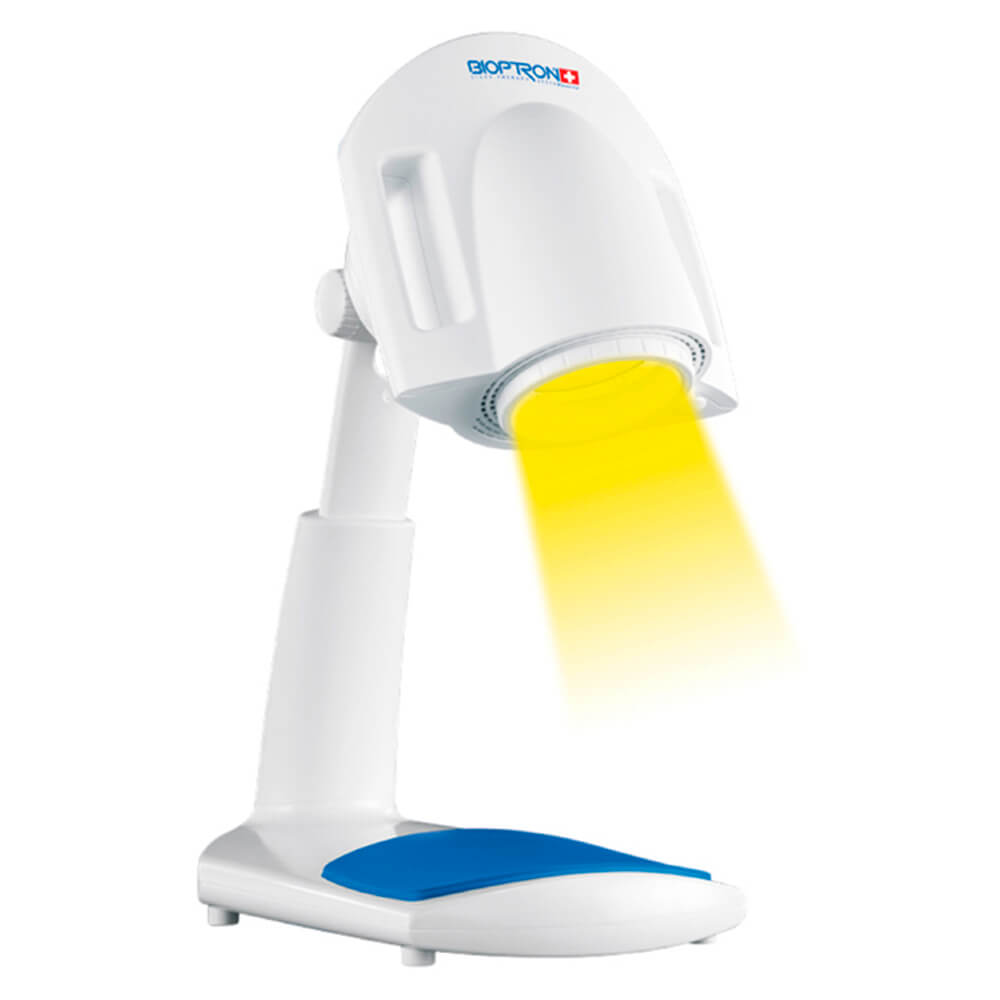 BIOPTRON Pro 1 - The BIOPTRON Pro 1 Light Therapy device is designed for use at home, in hospitals and therapeutic centres. With BIOPTRON Pro 1 you save energy, time and money as the state-of-the-art sleep mode only uses 0.5 W standby power so that the device can be ready for treatment anytime you want with no energy waste.