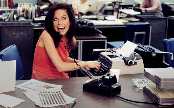 """Busy? Me? Nooooo!"" Us, as represented by Mary Tyler Moore."