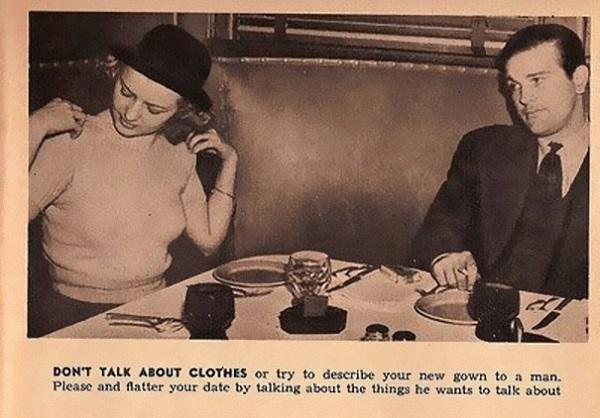Hilarious! A dating tip from 1938.