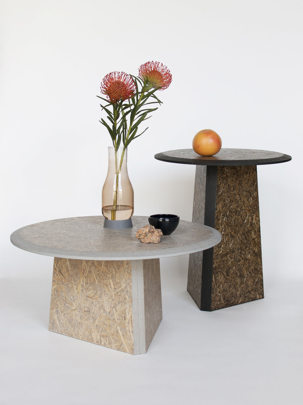 Straw sidetables -gray and black_styling general view 1- David Derksen Design.jpg