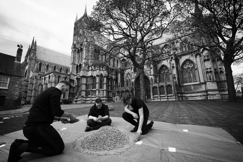 LSFPA Students perform  More Than a Statistic   at Lincoln Cathedral, as part of the 2018 Site Specific Performance module. Photo:Phil Crow