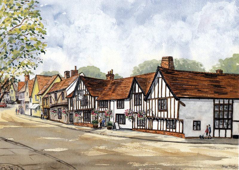 Lavenham, Suffolk (Watercolour)