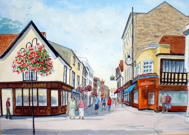Abbeygate Street,Bury St. Edmunds (Watercolour)