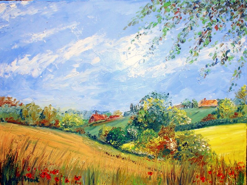 Ringshall, Suffolk (Oil on Canvas)