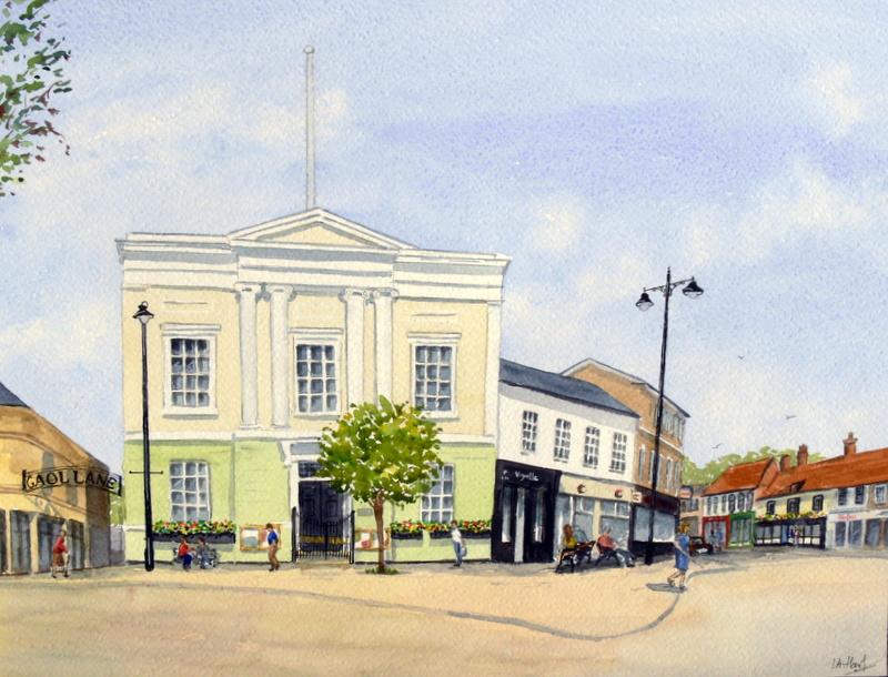 The Town Hall, Sudbury (Watercolour)