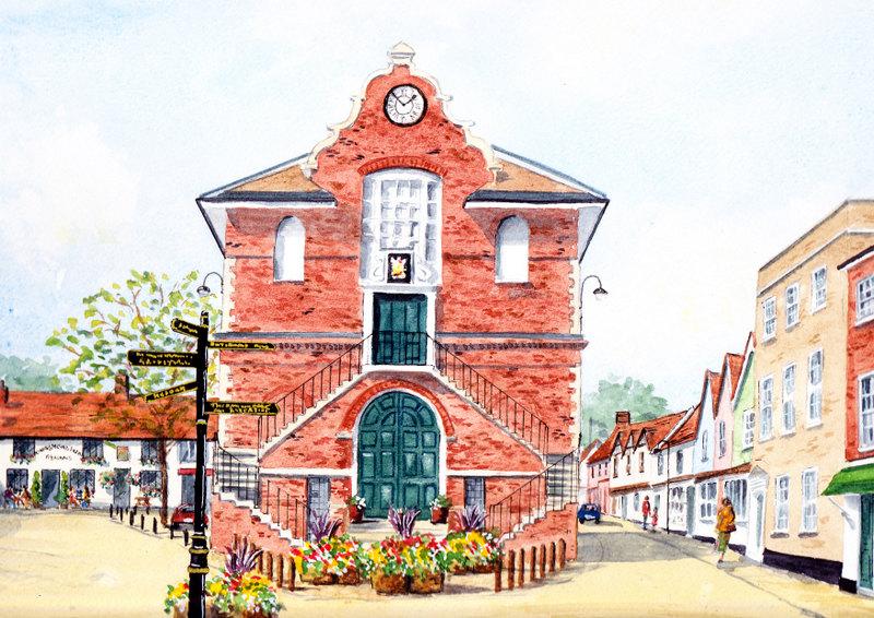 Shire Hall, Woodbridge (Watercolour)