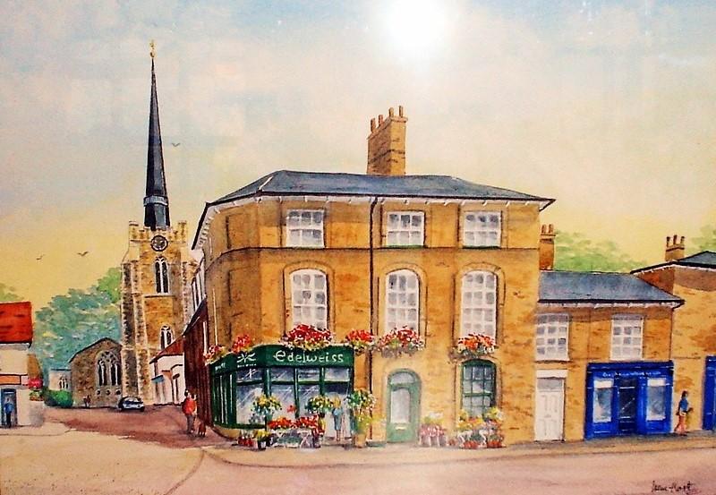 Stowmarket Town Centre (Watercolour)