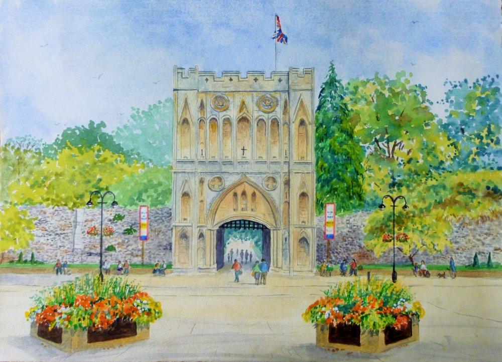 Abbeygate, Bury St. Edmunds (Watercolour)