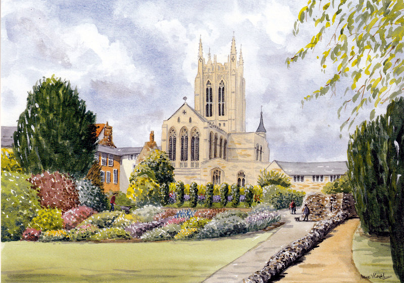 The Cathedral,Bury St. Edmunds  (Watercolour)