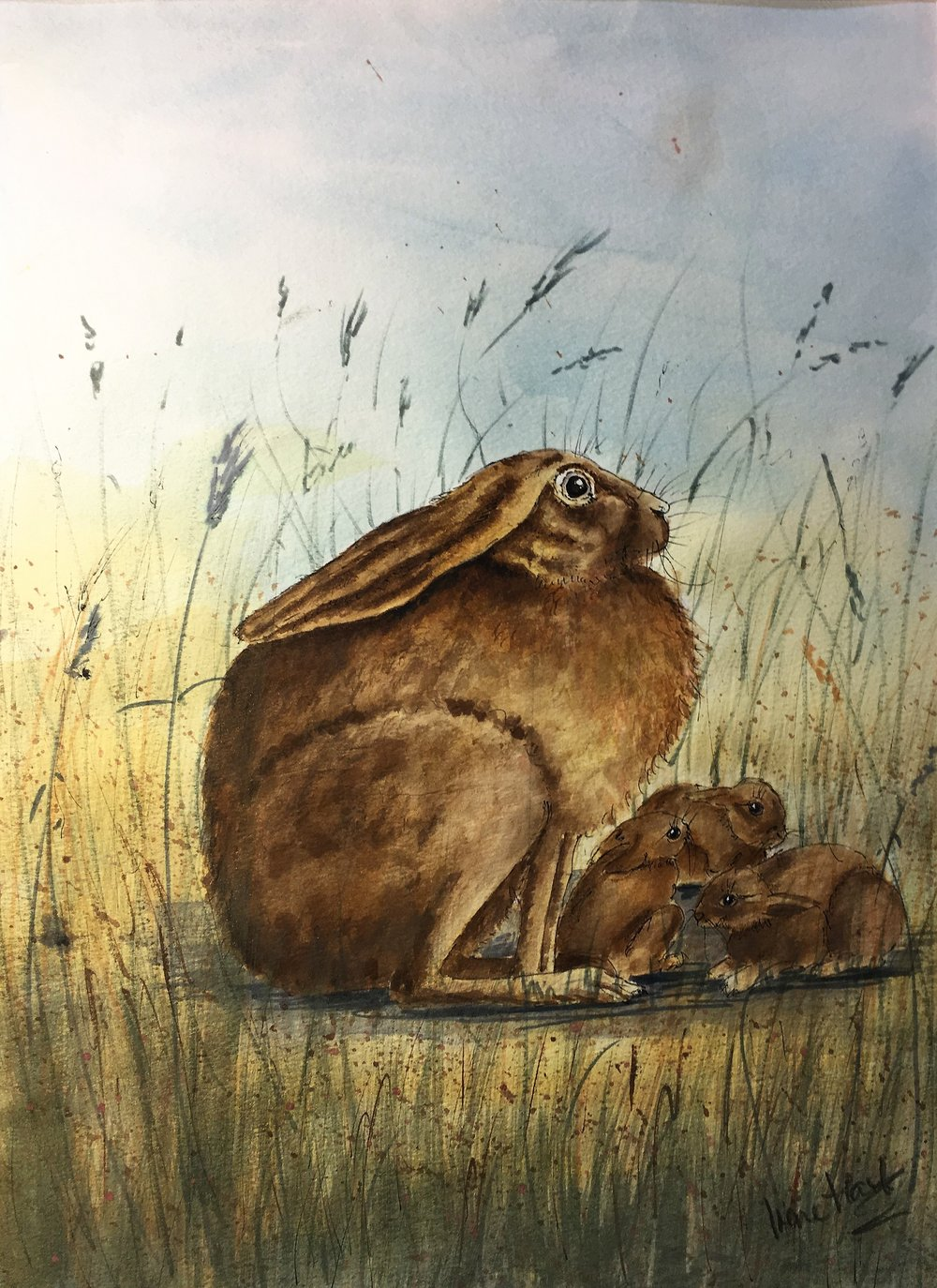 Hare with Leverets
