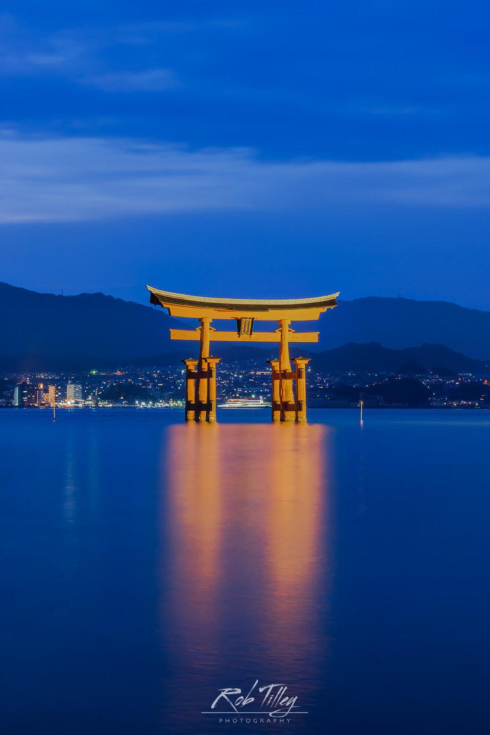 Twilight Miyajima Torii Gate II