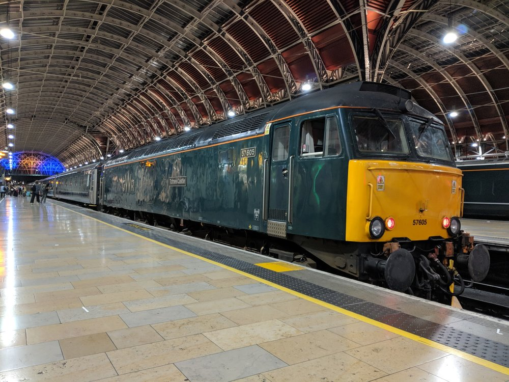 - Heritage diesel locomotives pull the Night Riviera from London Paddington to Penzance
