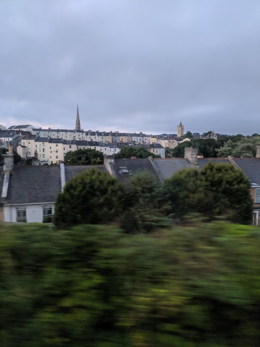 - Dawn breaking over Plymouth. As seen from our cabin.