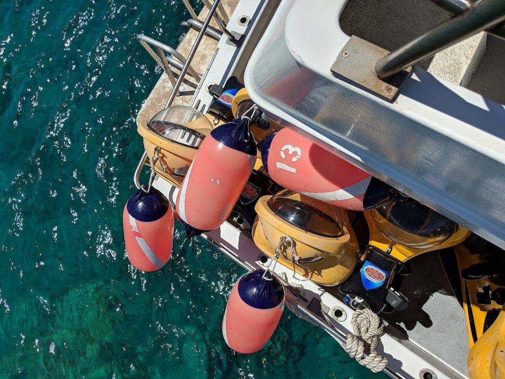 - A boat full of B.O.S.S.es, but only one captain (and half a dozen divers)