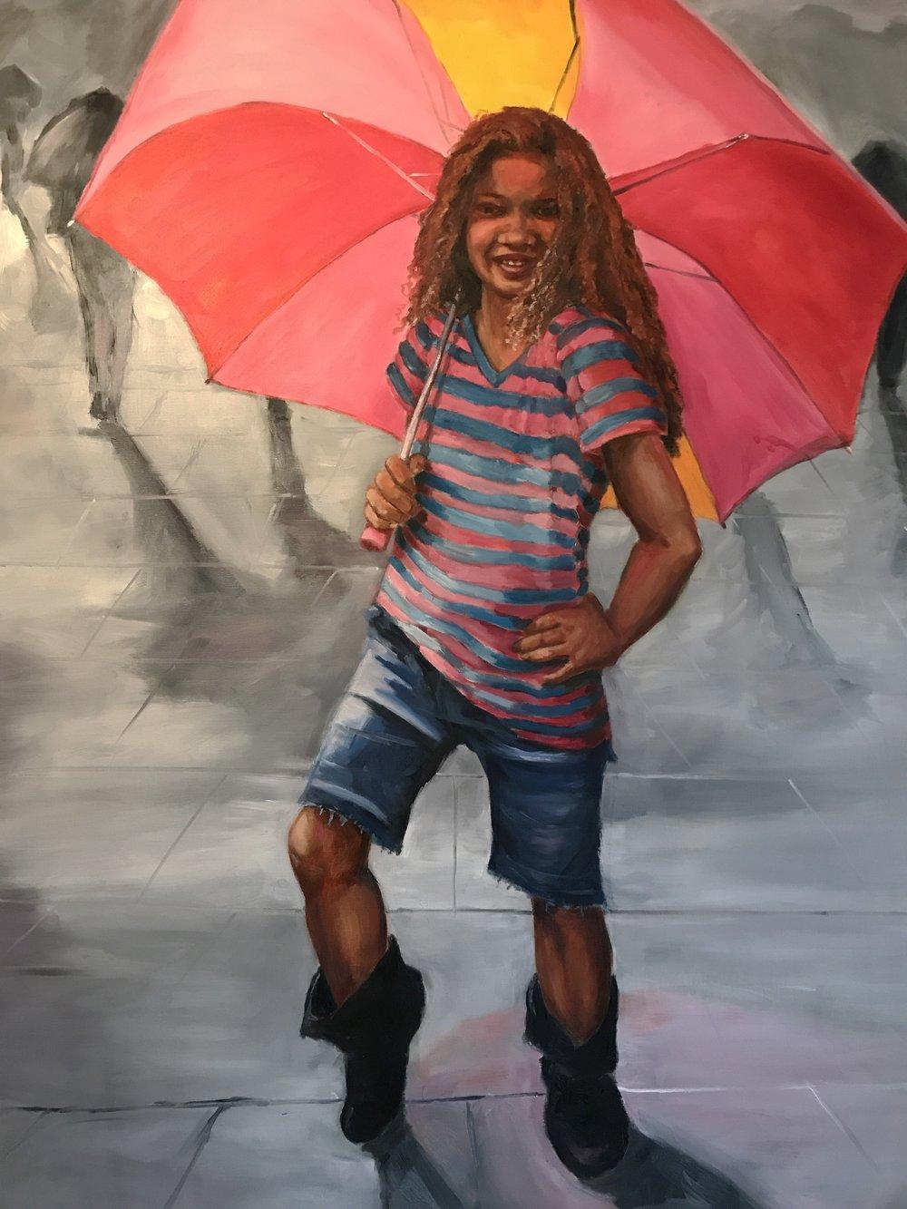 Posing in the Rain