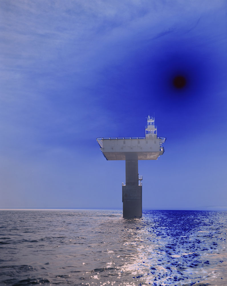 Image :  Lighthouse (East) , 2011 Duratrans transparency, lightbox © Catherine Yass