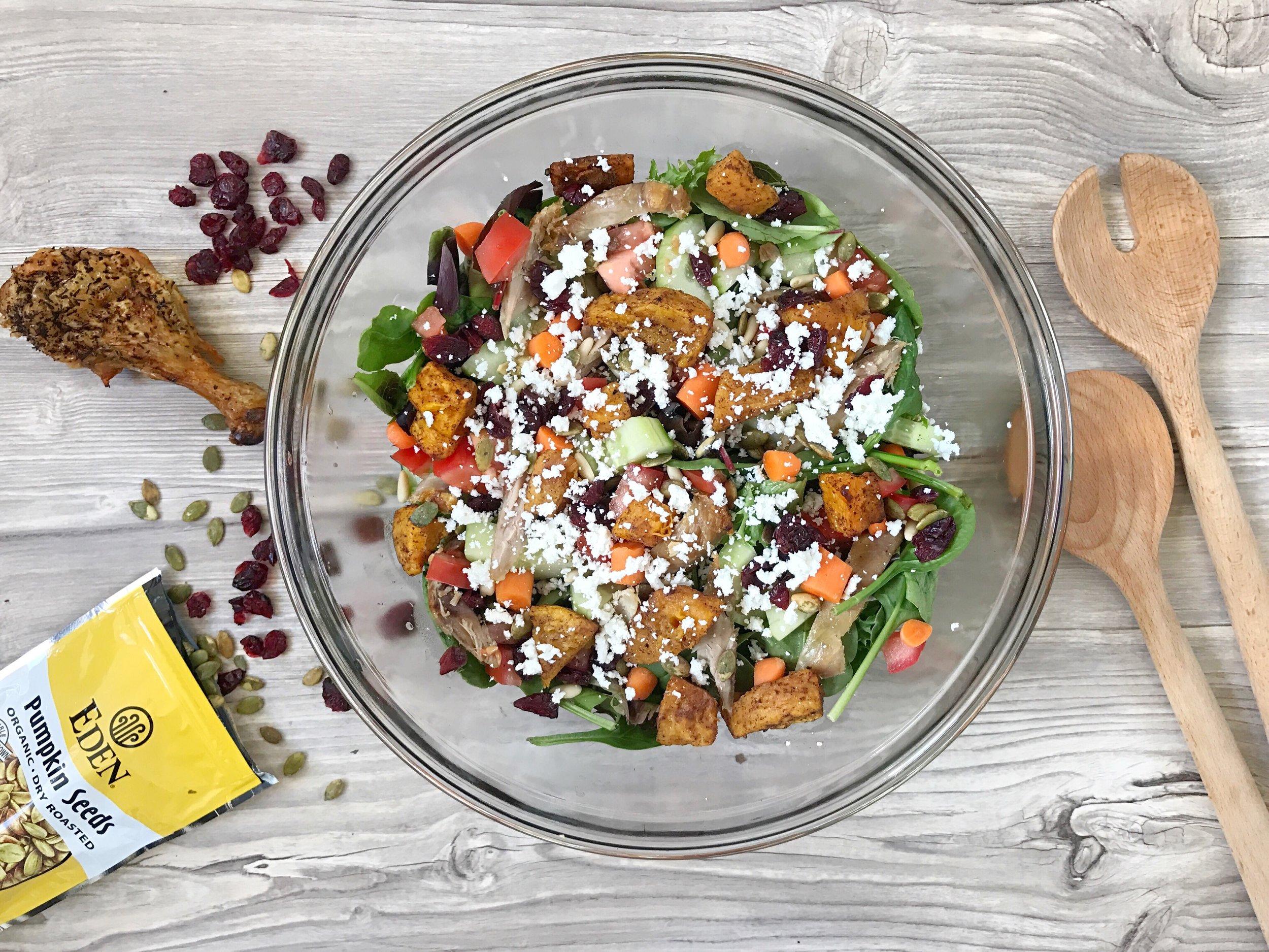 Thanksgiving butternut squash salad recipe
