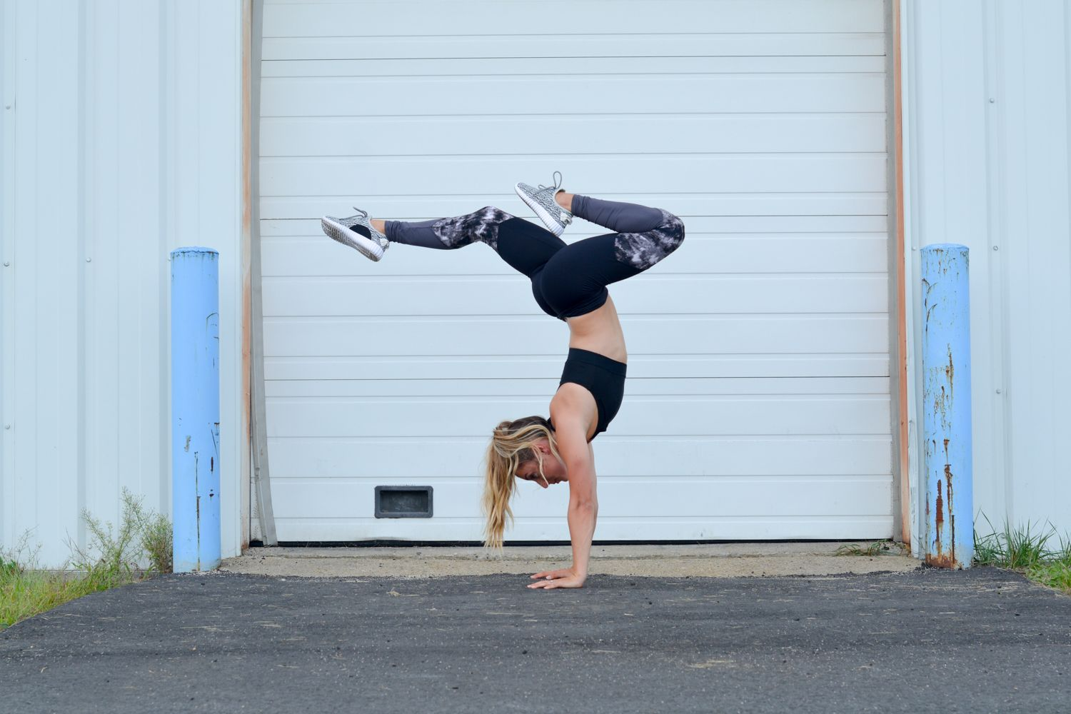 Blissfully Lively Doing a Handstand