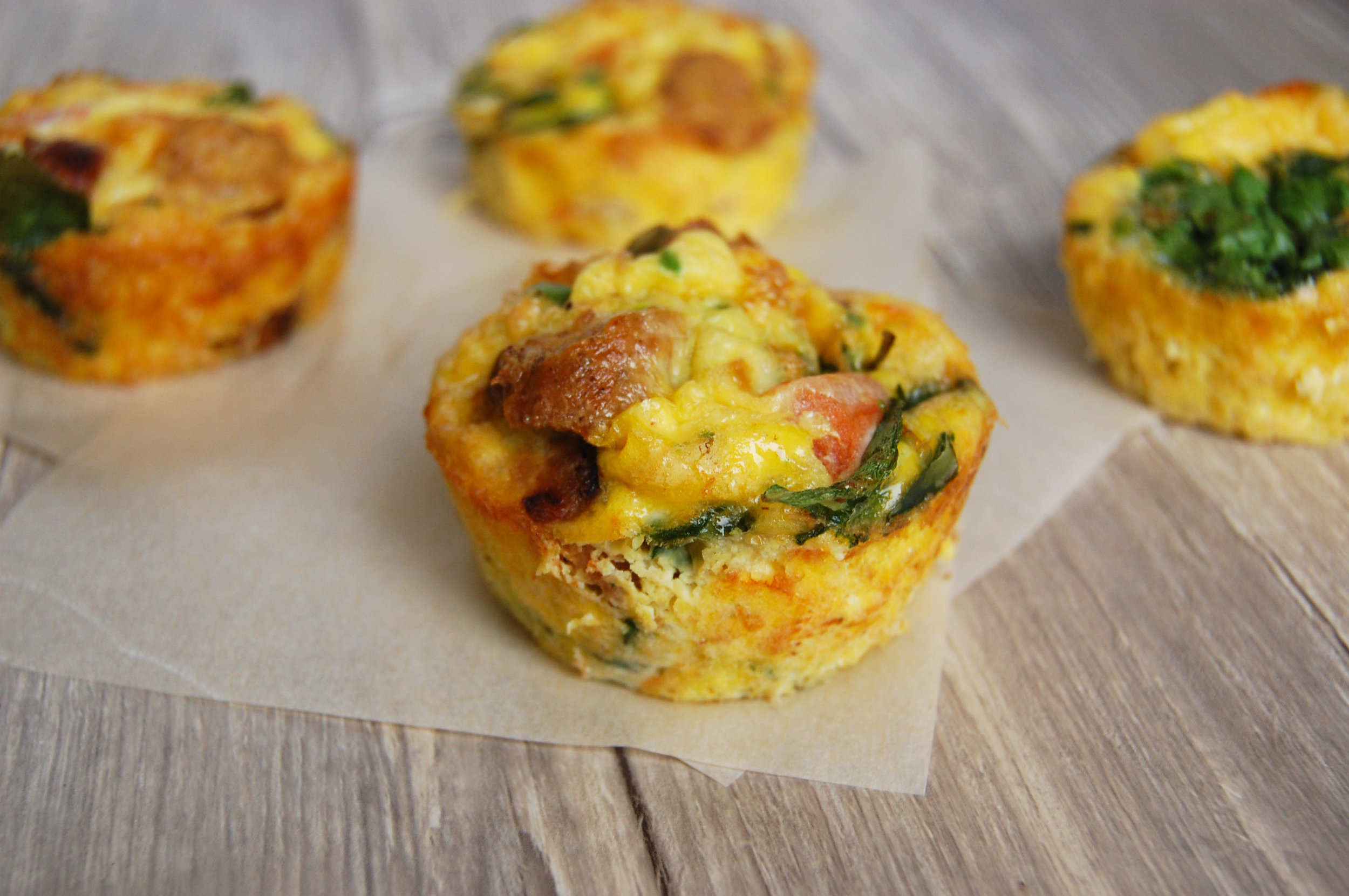 Turkey Spinach Frittatas