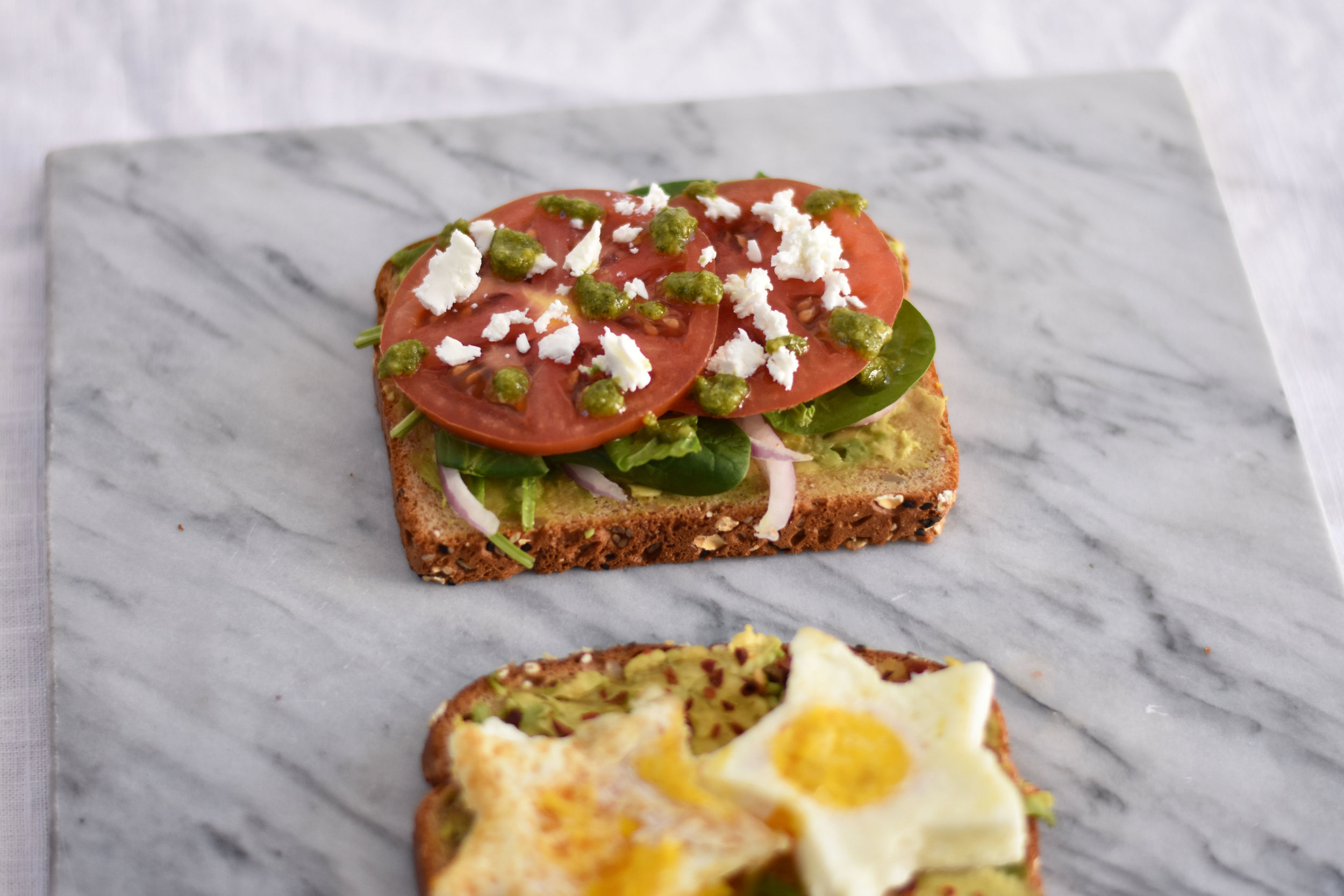 BL Avocado Veggie Toast