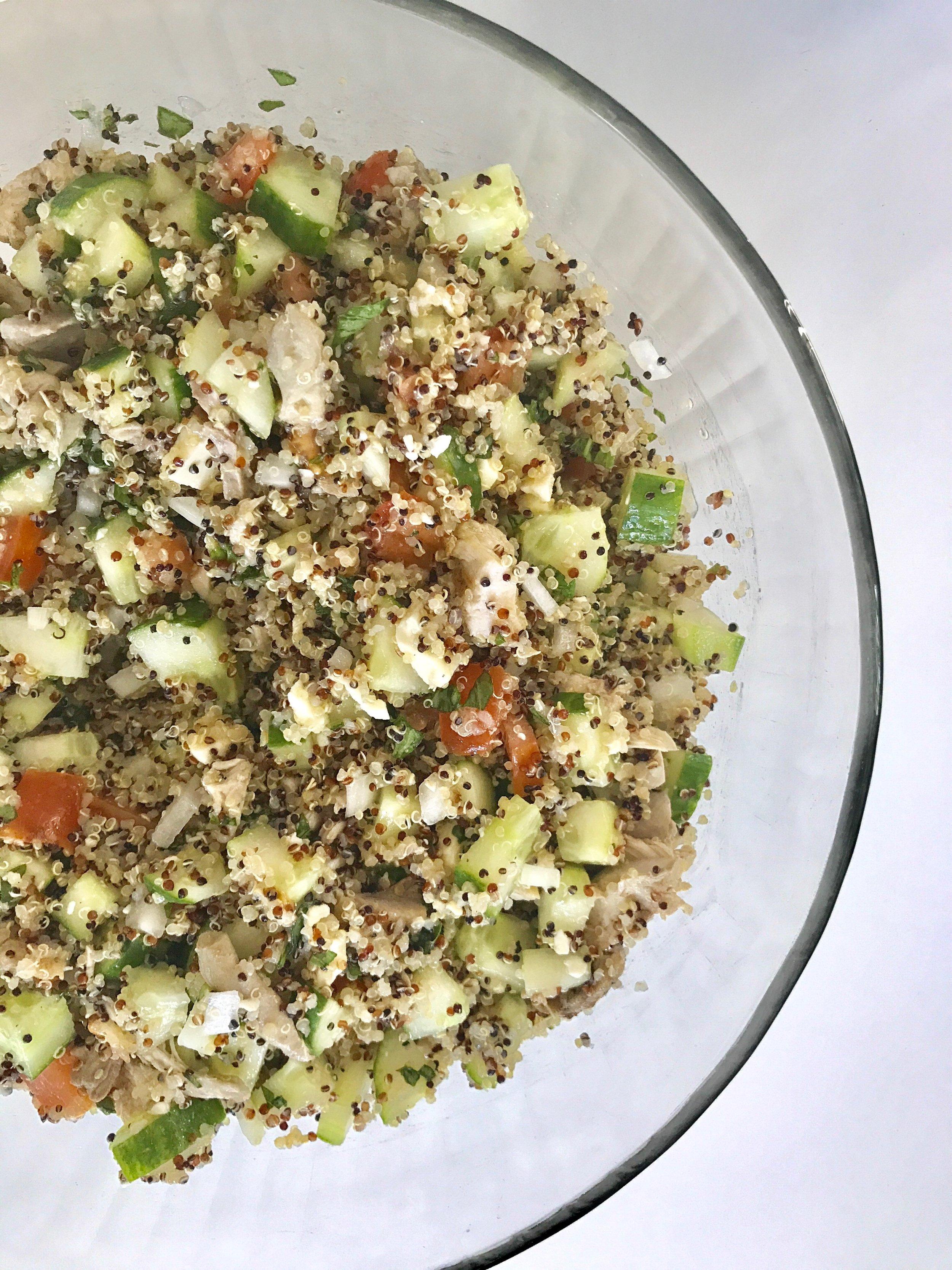 BL Quinoa Cucumber Salad