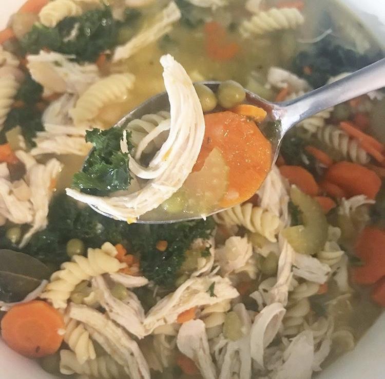 BL Recipes: Kale Chicken Noodle Soup