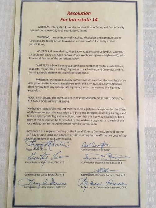 Russel County Comissioners Resolution.JPG