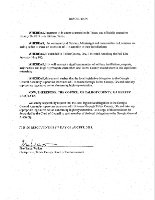 Talbot County Georgia Interstate 14 Resolution.png