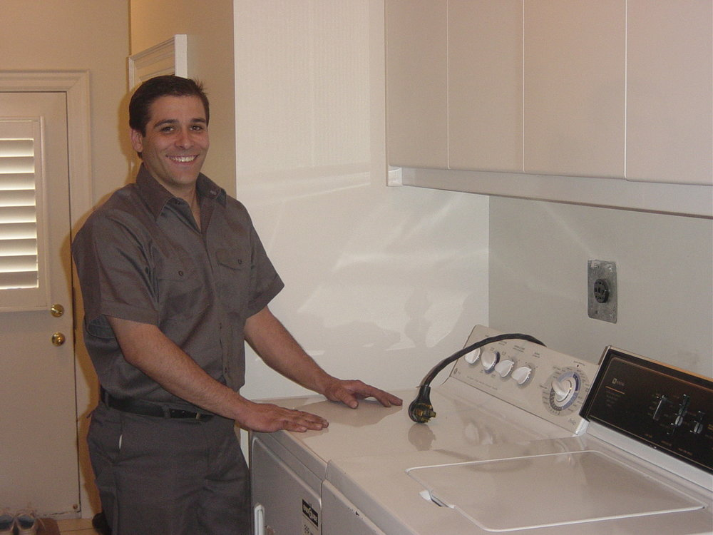 Our friendly, courteous technician carefully disconnects your dryer from the power source and venting system.