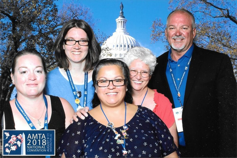 Some convention attendees representing AMTA Oklahoma Chapter in Washington DC