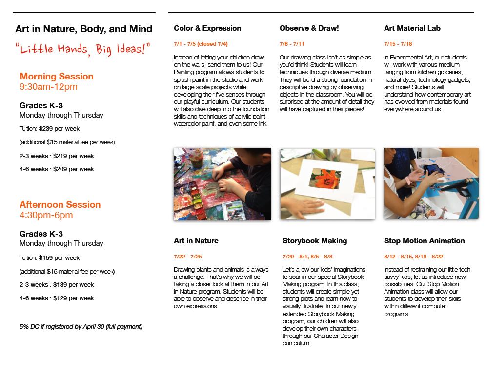 Course descriptions, Dates, Times, Tuition Information