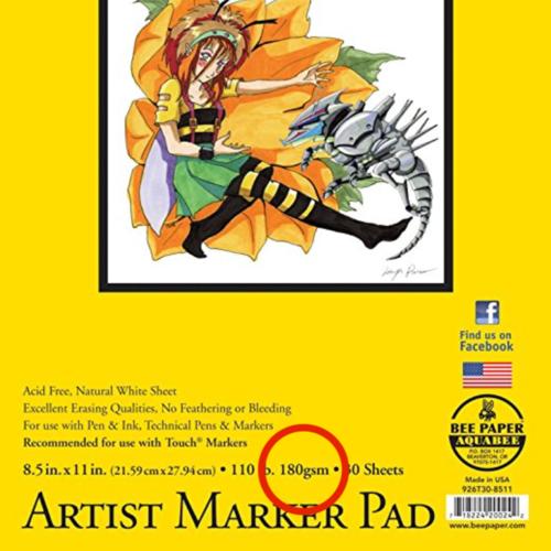Meh... Good/Better 180 gsm = Marker Paper or Multimedia paper