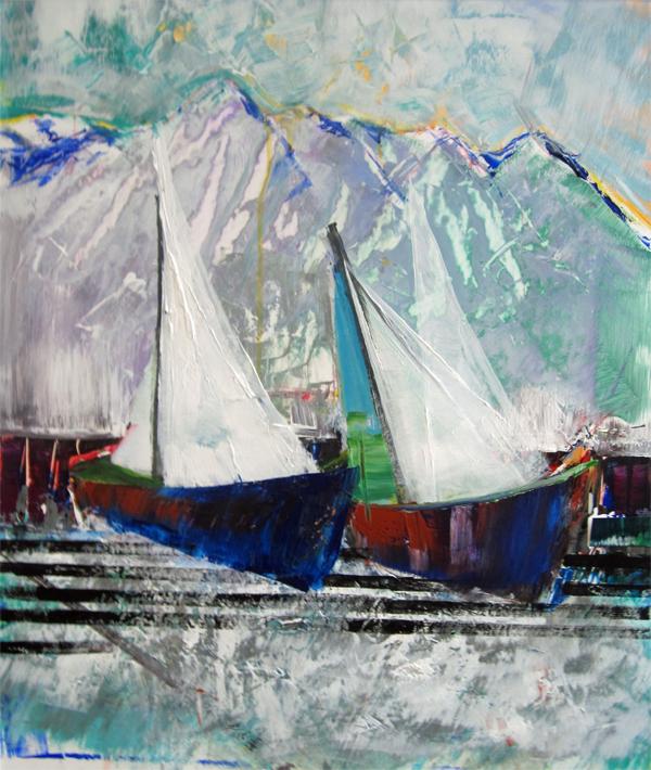 Blue Boats