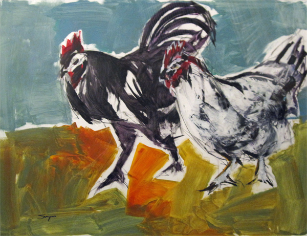 County Fair (Rooster and Chicken)