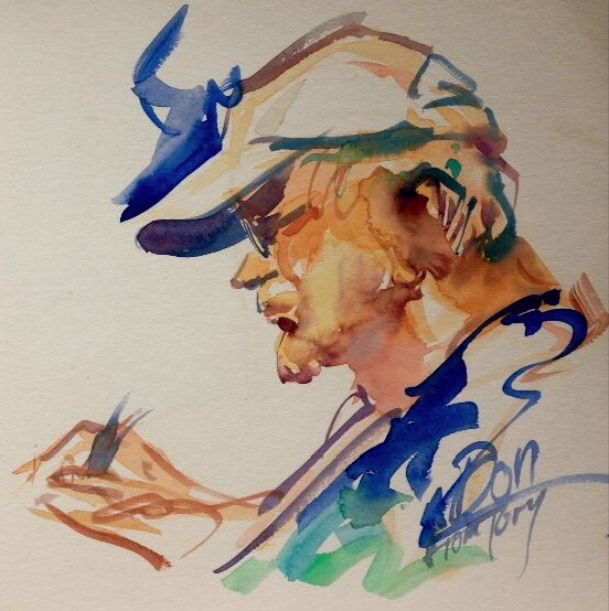 Watercolor of Don Sayers by Tory Cusack (tory393@aol.com)