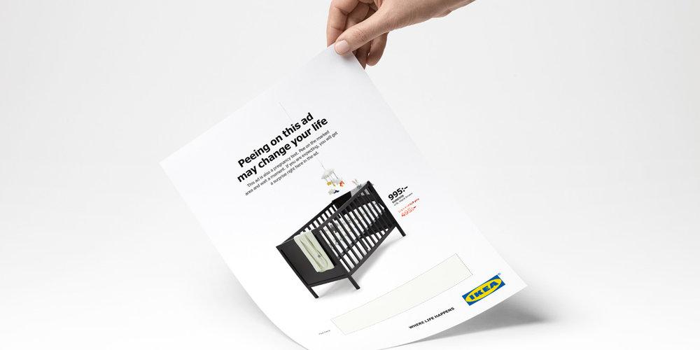 """Anzeige """"Pee-on"""" für Ikea (Agentur:Åkestam Holst)"""