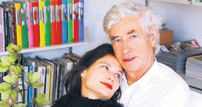 Eliška con suo marito, l'architetto Jan Kaplický