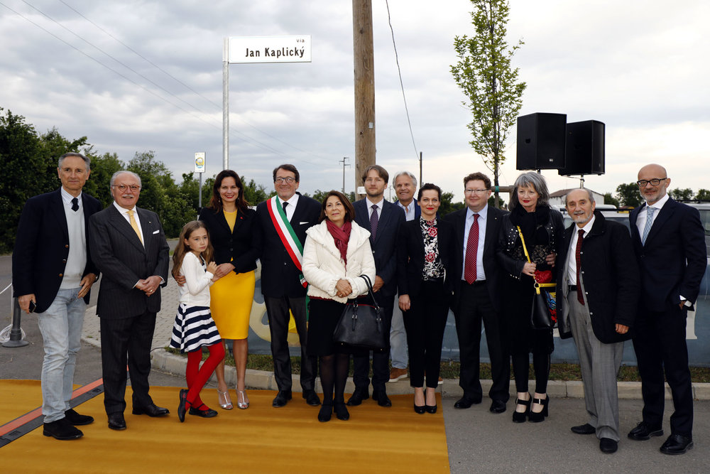 Modena, intitolazione strada all'architetto Jan Kaplický (maggio 2017)