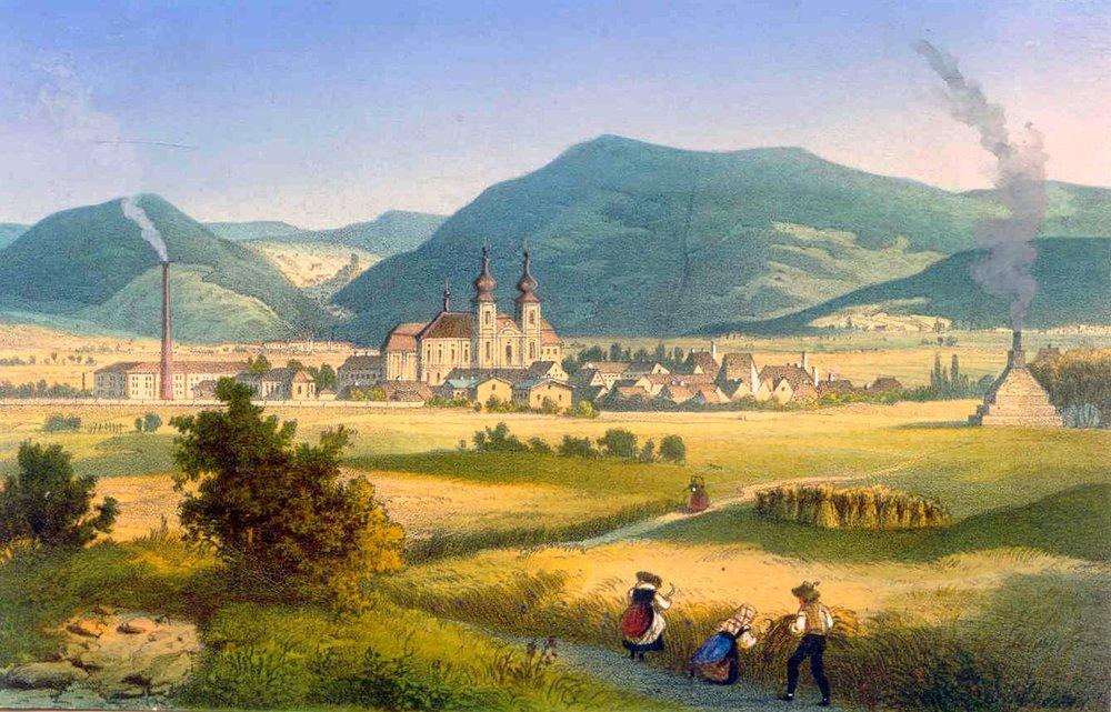 Dux, raffigurata all'epoca del Casanova
