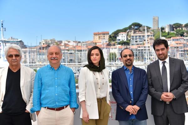 Il cast di Forushande (Il Cliente) al festival del cinema di Cannes (2016)