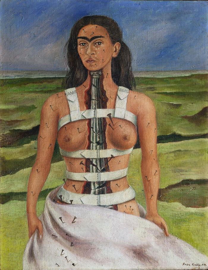 Frida Kahlo,La colonna spezzata (1944), Museo Dolores Olmedo, Città del Messico