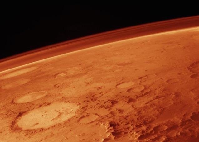 Dettaglio di Marte, il Pianeta Rosso, e della sua atmosfera