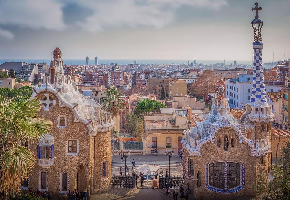 Barcellona, il parco Güell Gaudi