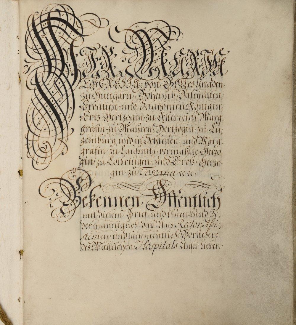 Conferma dei privilegi concessi alla Congregazione da Maria Teresa d'Austria (1744)