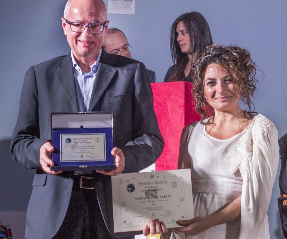 Stefano Ceccarelli, primo classificato al Premio Ipazia Città di Eboli 2018
