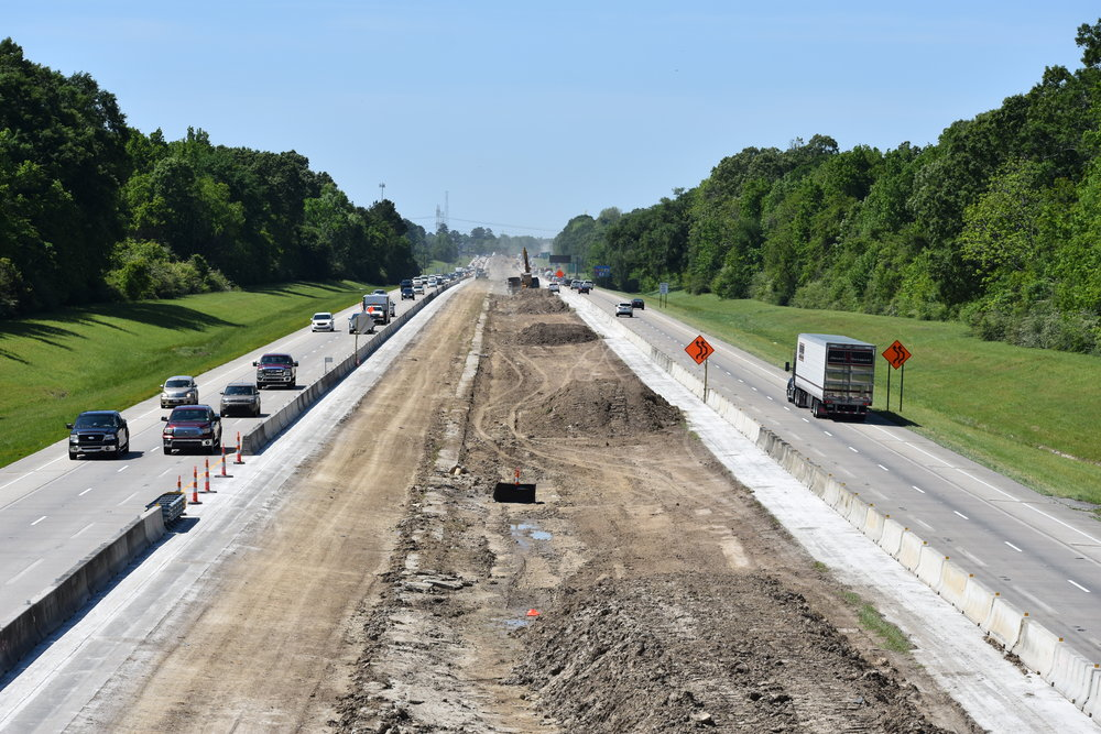 I-10 from Bluff Road Bridge Looking West