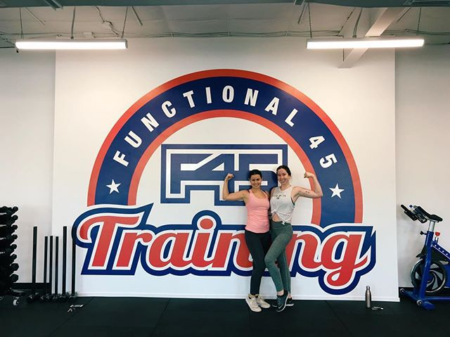 We took an F45 class yesterday morning and it was so much fun! F45 is new to the area and it was intense! Highly recommend everyone to go check out @f45_largo
