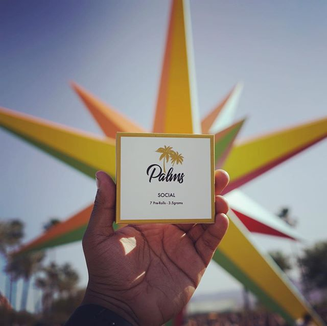 Coachella 2018! Our social pre-rolls are helping to keep the party going! 🌴🎶🤘🏽#palmspremium #coachella