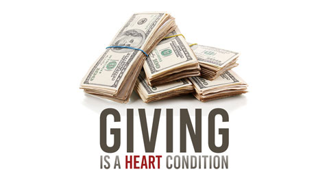 Image result for giving money is about the heart